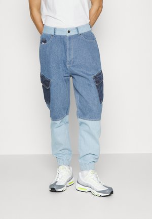 BLOCK PANTS  - Jeans Tapered Fit - blue