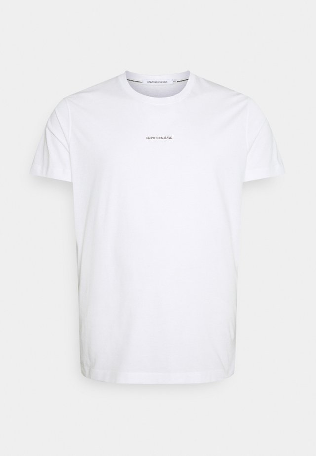 PLUS MICRO BRANDING - T-shirt med print - bright white