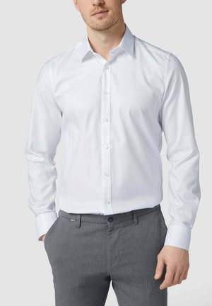 SLIM FIT BUSINESS AUS TWILL - Formal shirt - weiß
