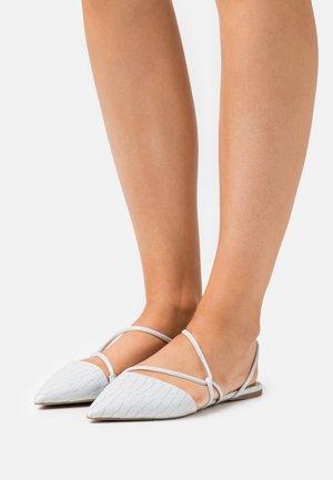 SELENA - Ankle strap ballet pumps - light blue