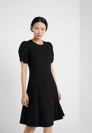 KNOT SLEEVE FIT FLARE - Denní šaty - black
