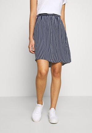 VIPRIMERA - A-line skirt - navy blazer/snow white stribe