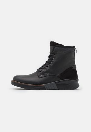 BIADIRK WARM BOOT - Lace-up ankle boots - black