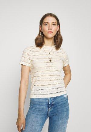 ONLMARGOT LIFE LASER TEE - Camiseta estampada - eggnog