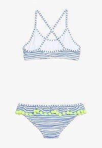 Sunuva - GIRLS POMPOM FRILL - Bikini - blue/white - 1