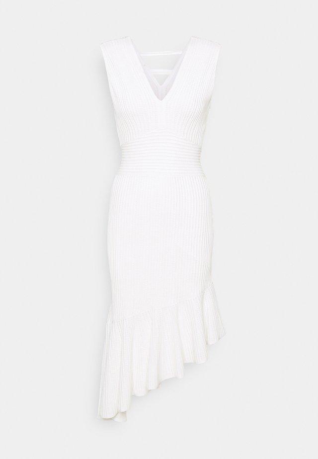 ASYMMETRICAL HEM SLEEVELESS DRESS - Juhlamekko - white