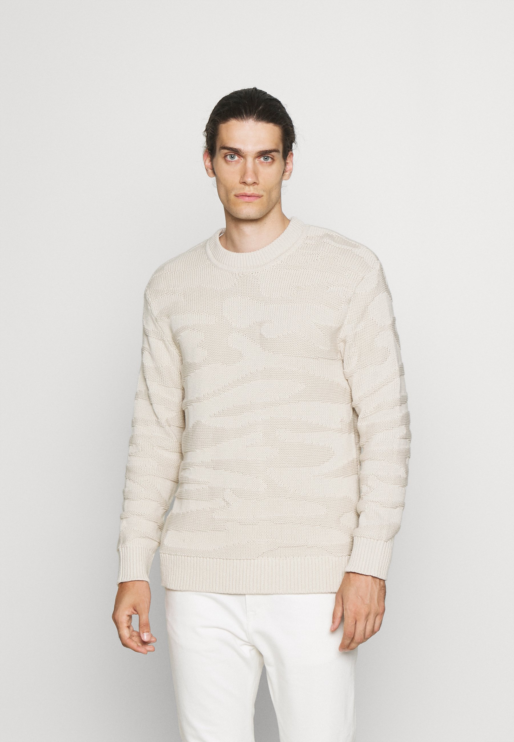 Homme O NECK  - Pullover - sand