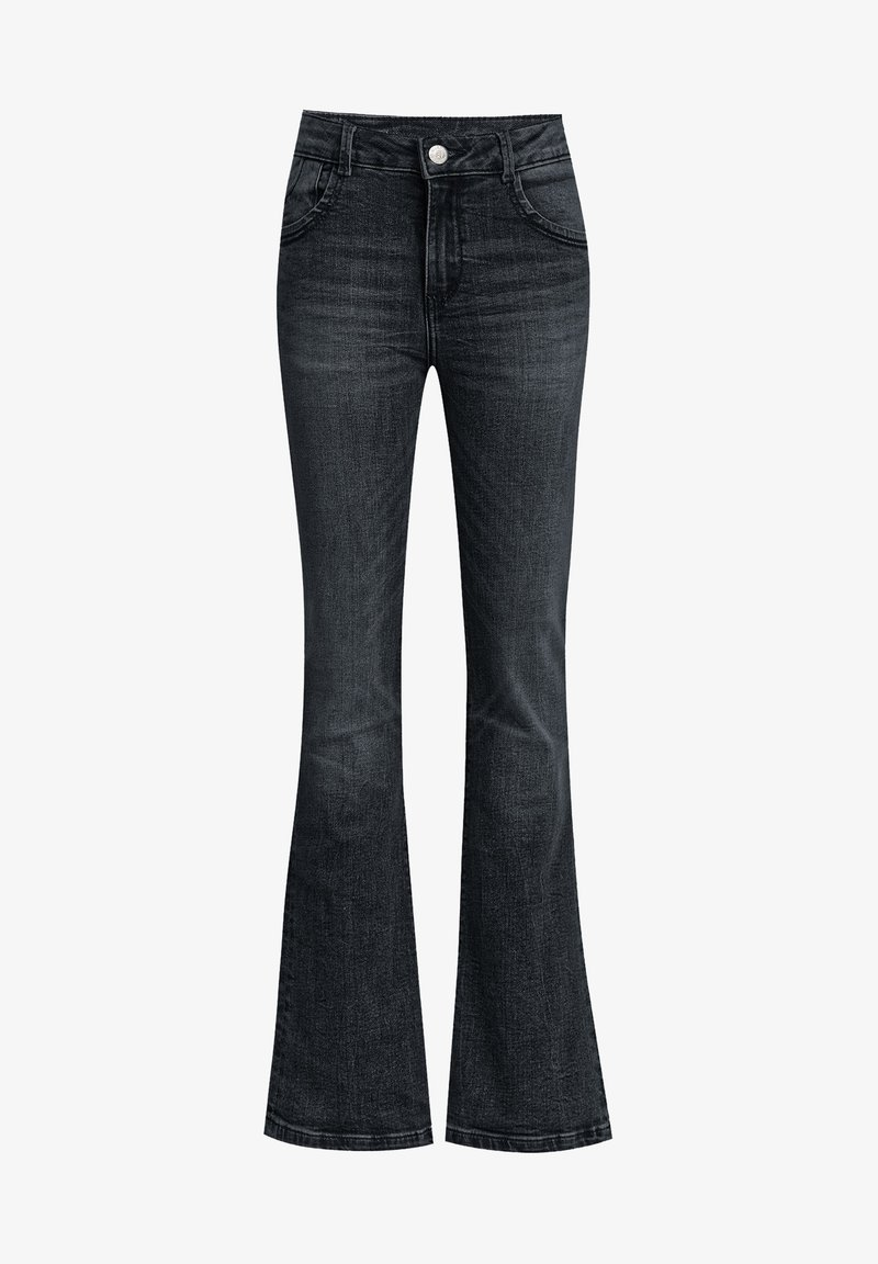 WE Fashion - Flared Jeans - black