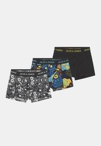 Jack & Jones Junior - JACSUGAR SKULL 3 PACK - Panties - black/blazing yellow - 0