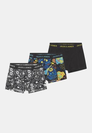 JACSUGAR SKULL 3 PACK - Boxerky - black/blazing yellow