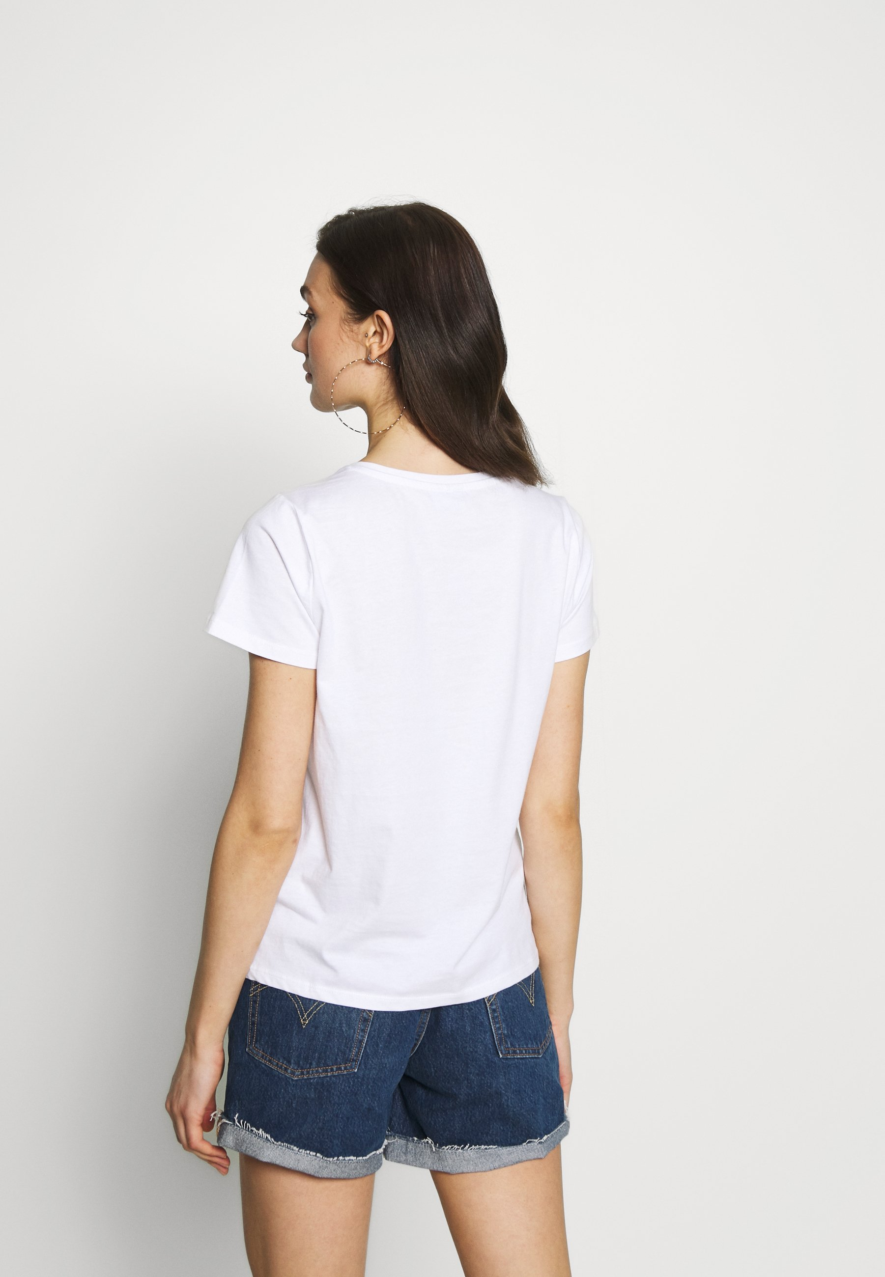 Noisy May Nmnate Signs - T-shirts Med Print Bright White/hvit