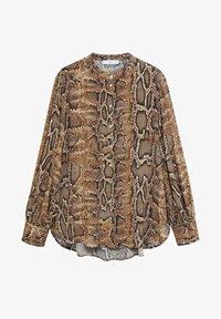 Mango - BEDRUCKTES SCHLANGENMUSTER - Button-down blouse - braun - 4