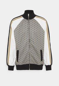 ZIP FUNNEL TRACK - Zip-up sweatshirt - brown