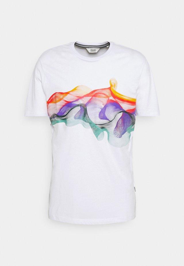 SDPIETER - Print T-shirt - white