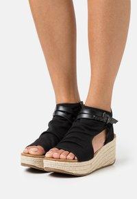 Blowfish Malibu - LACEY4EARTH - Ankle cuff sandals - black - 0