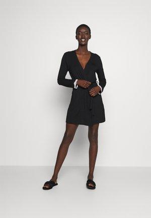 HEIDI  DRESSING GOWN - Badjas - black/beige