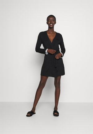 HEIDI  DRESSING GOWN - Dressing gown - black/beige