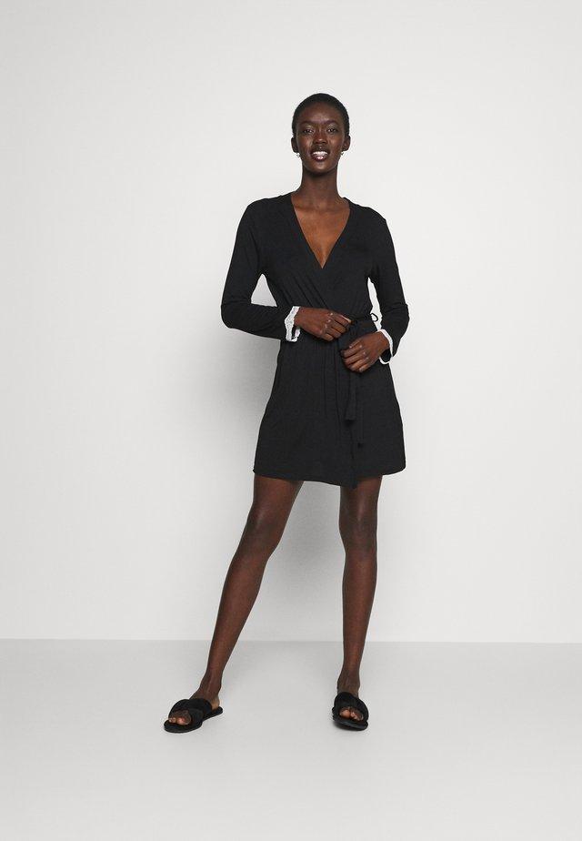 HEIDI  DRESSING GOWN - Peignoir - black/beige