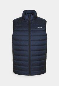 Calvin Klein - ESSENTIAL SIDE LOGO VEST - Waistcoat - navy - 0