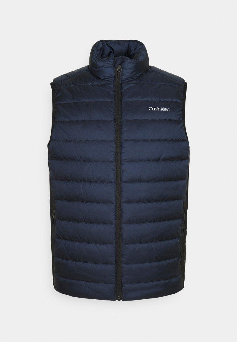 Calvin Klein - ESSENTIAL SIDE LOGO VEST - Waistcoat - navy