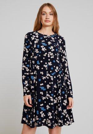 DRESS FEMININE FLARED SHAPE LONG - Denní šaty - dark blue