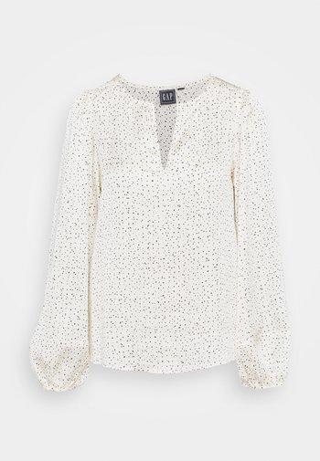 SPLIT BLOUSON - Blouse - white