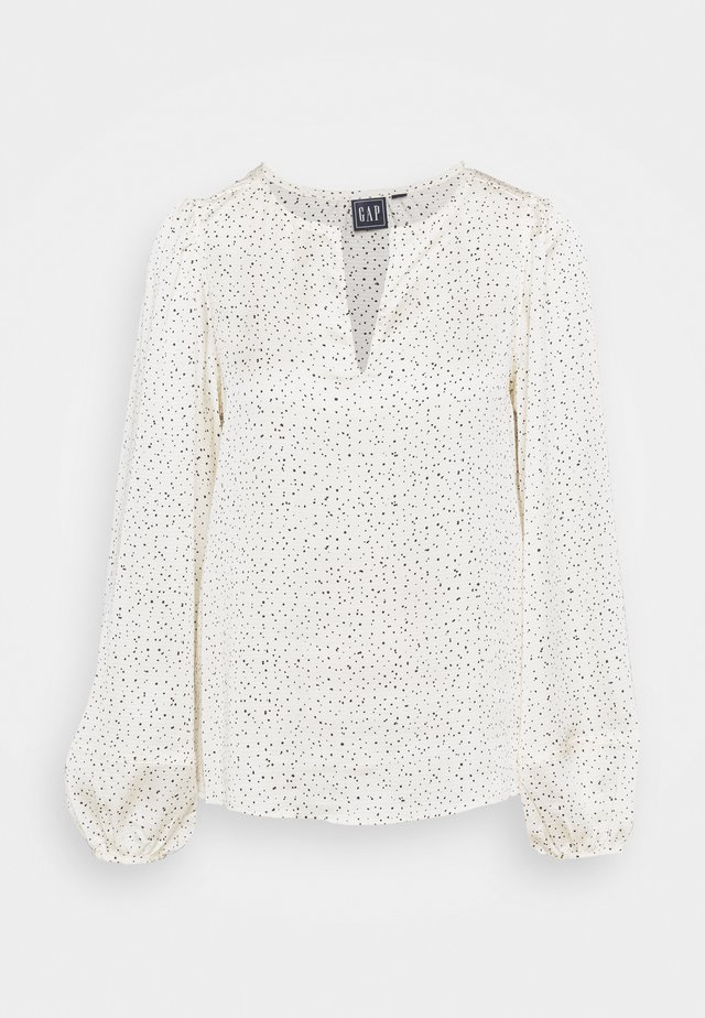 SPLIT BLOUSON - Blouse - white