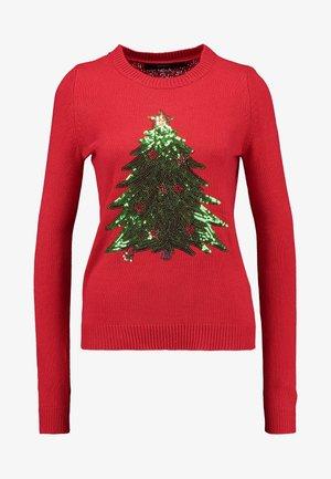 VMSHINY CHRISTMAS TREE - Svetr - chinese red