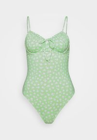 Cotton On Body - GATHER FRONT UNDERWIRE ONE PIECE CHEEKY - Swimsuit - mint - 0