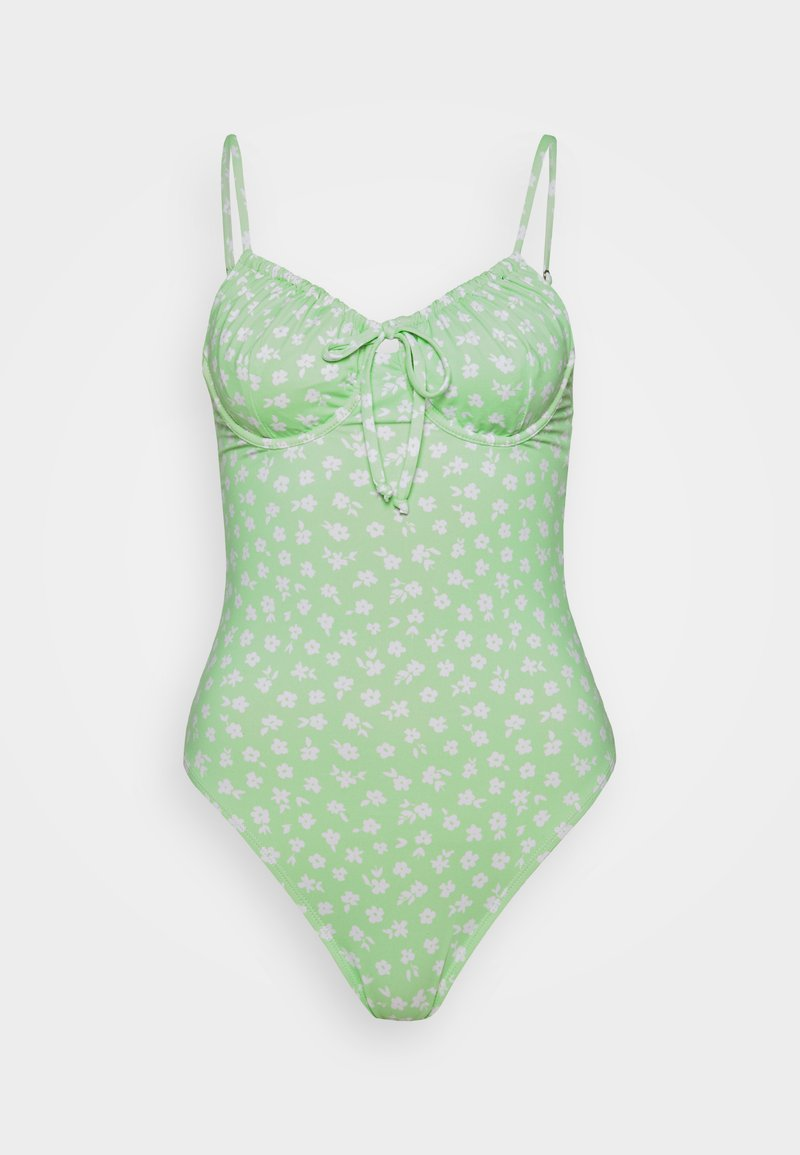 Cotton On Body - GATHER FRONT UNDERWIRE ONE PIECE CHEEKY - Swimsuit - mint