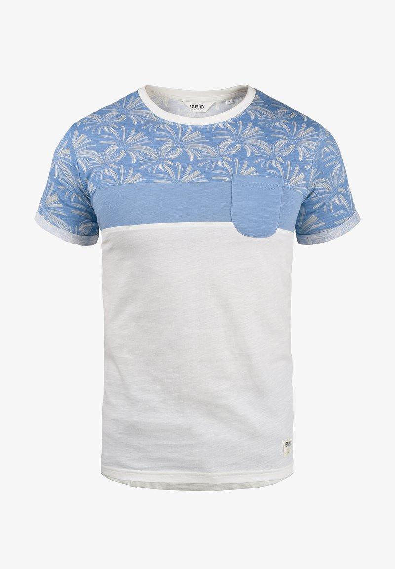 Solid FLORIAN - T-Shirt print - ermine/beige L4aCoy