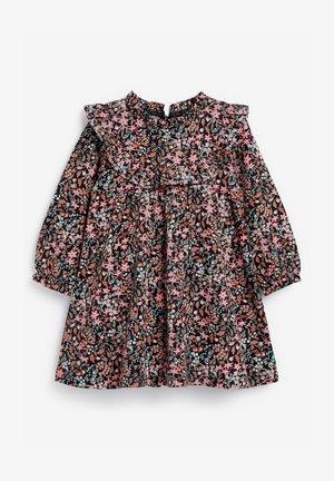 FLORAL FRILL - Denní šaty - blue