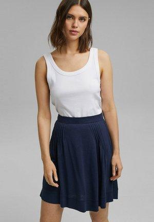FLARE SKIRT - Mini skirt - navy