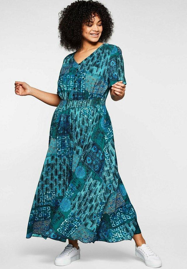 Maxi dress - blau bedruckt