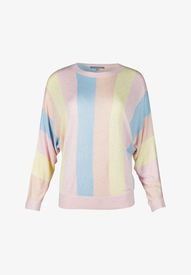 STRIPED MINI SEQUIN  - Maglione - pink
