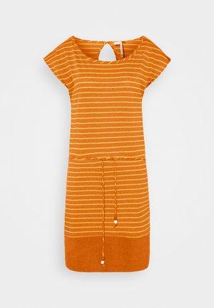 SOHO STRIPE - Jersey dress - cinnamon