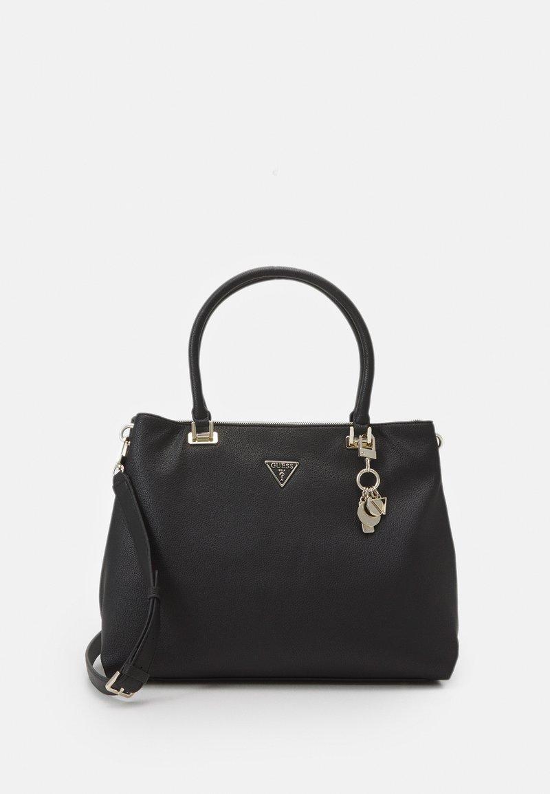 Guess - HANDBAG DESTINY SOCIETY CARRYALL - Handbag - black
