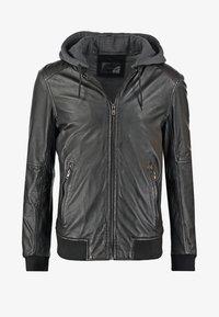 JIMMY - Veste en cuir - noir