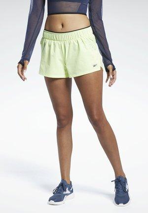 LES MILLS® EPIC SHORTS - Pantalón corto de deporte - yellow