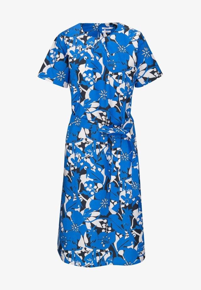Korte jurk - mittelblau