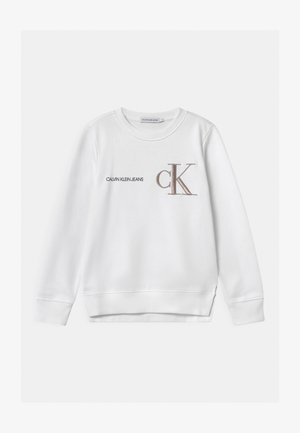RAISED MONOGRAM - Sweatshirt - white