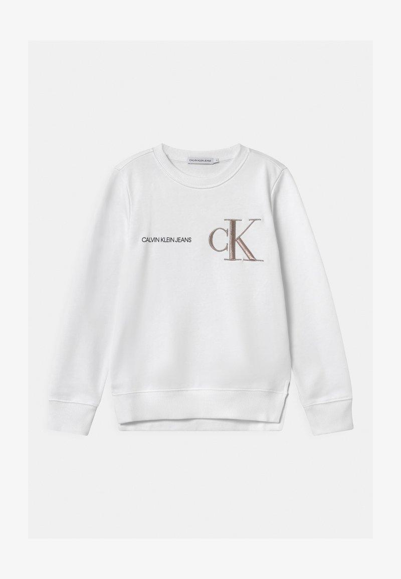 Calvin Klein Jeans - RAISED MONOGRAM - Sudadera - white
