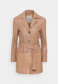 Trussardi - Leather jacket - tannin - 0