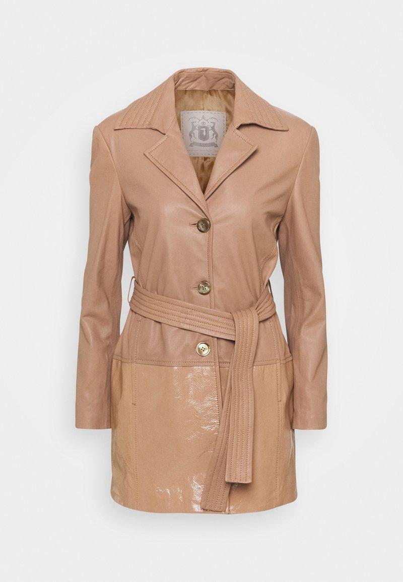 Trussardi - Leather jacket - tannin