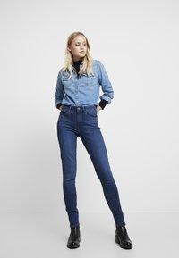 G-Star - 3301 HIGH SKINNY - Jeans Skinny Fit - medium blue aged - 1
