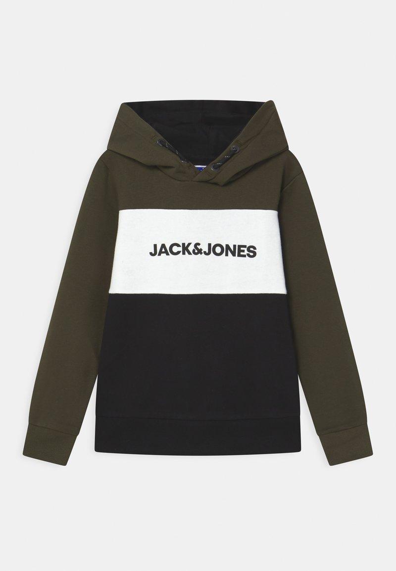 Jack & Jones Junior - JJELOGO BLOCKING HOOD JR - Hoodie - forest night