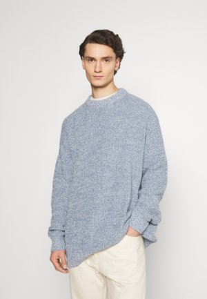 SLOUCHY LIGHTWEIGHT SWEATER - Pullover - blue