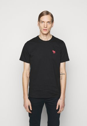 SCRIBBLE ZEBRA - Basic T-shirt - black