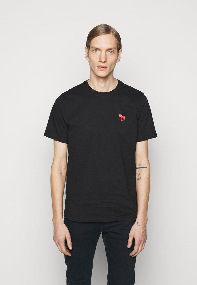 SCRIBBLE ZEBRA - Basic T-shirt - black