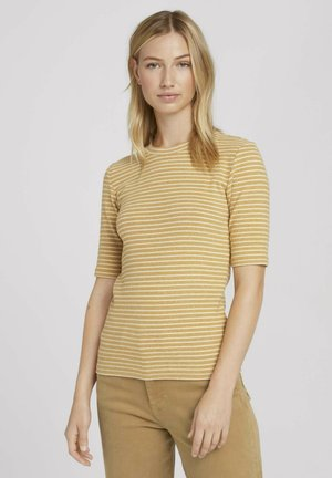 COSY  - Print T-shirt - camel beige stripe